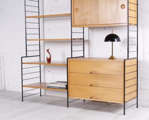 regale regalsysteme vintage wall units auf hans und. Black Bedroom Furniture Sets. Home Design Ideas