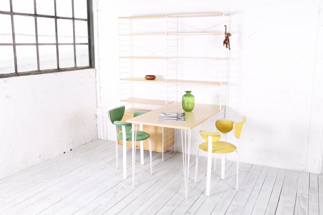 seltens vintage regal von whb mit esstisch r ster metall 1960er hans hans. Black Bedroom Furniture Sets. Home Design Ideas