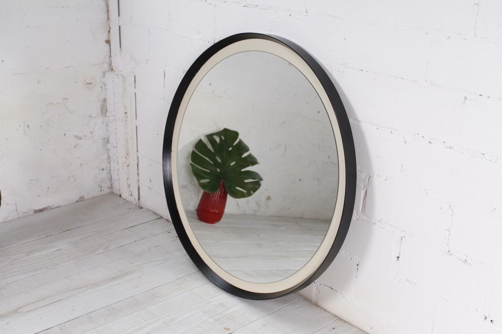 gro er schwedischer wandspiegel eiche glas 1960er hans hans. Black Bedroom Furniture Sets. Home Design Ideas