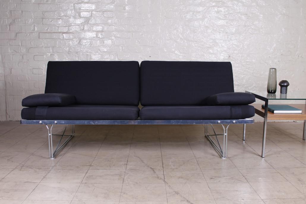schwedisches niels gammelgaard moment sofa metall 1980er hans hans. Black Bedroom Furniture Sets. Home Design Ideas