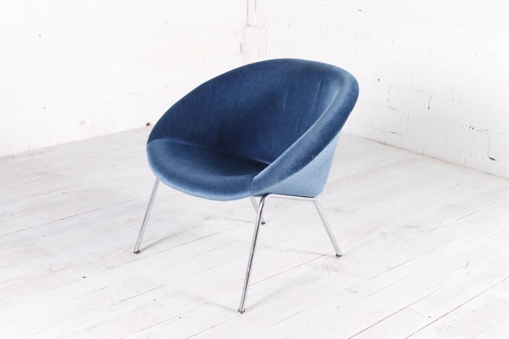 Originaler Vintage Walter Knoll Mod 369 Sessel Metall